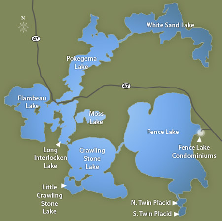 Fence Lake Condos Lac Du Flambeau - Pokegama lake map