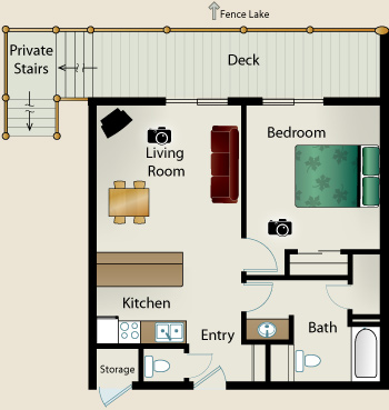ONE BEDROOM FLOORPLANS